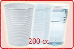 bicchieri plastica da 200cc