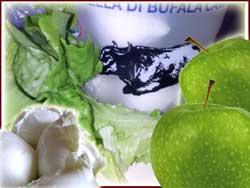 ricetta per insalata con mela verde e mozzarella di bufala