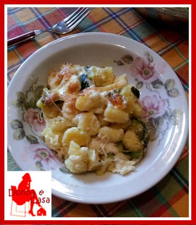 ricetta per gli gnocchi gratinati con mozzarella e zucchine