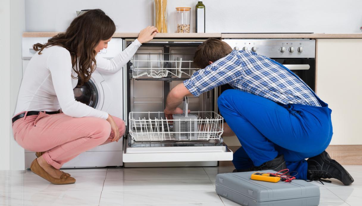 Riparare la cerniera a molla della lavastoviglie - Porta per lavastoviglie da incasso ...