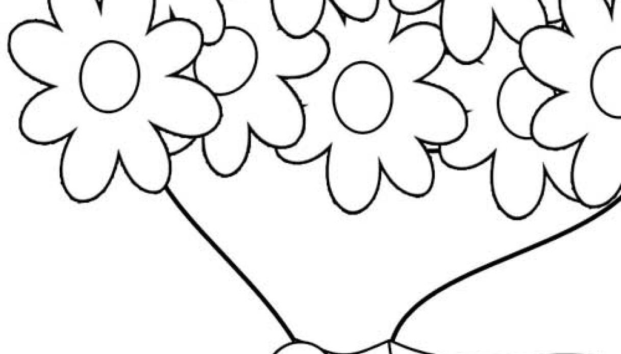 Mazzo Di Fiori Immagini Da Colorare.Disegno Di Un Mazzo Di Fiori