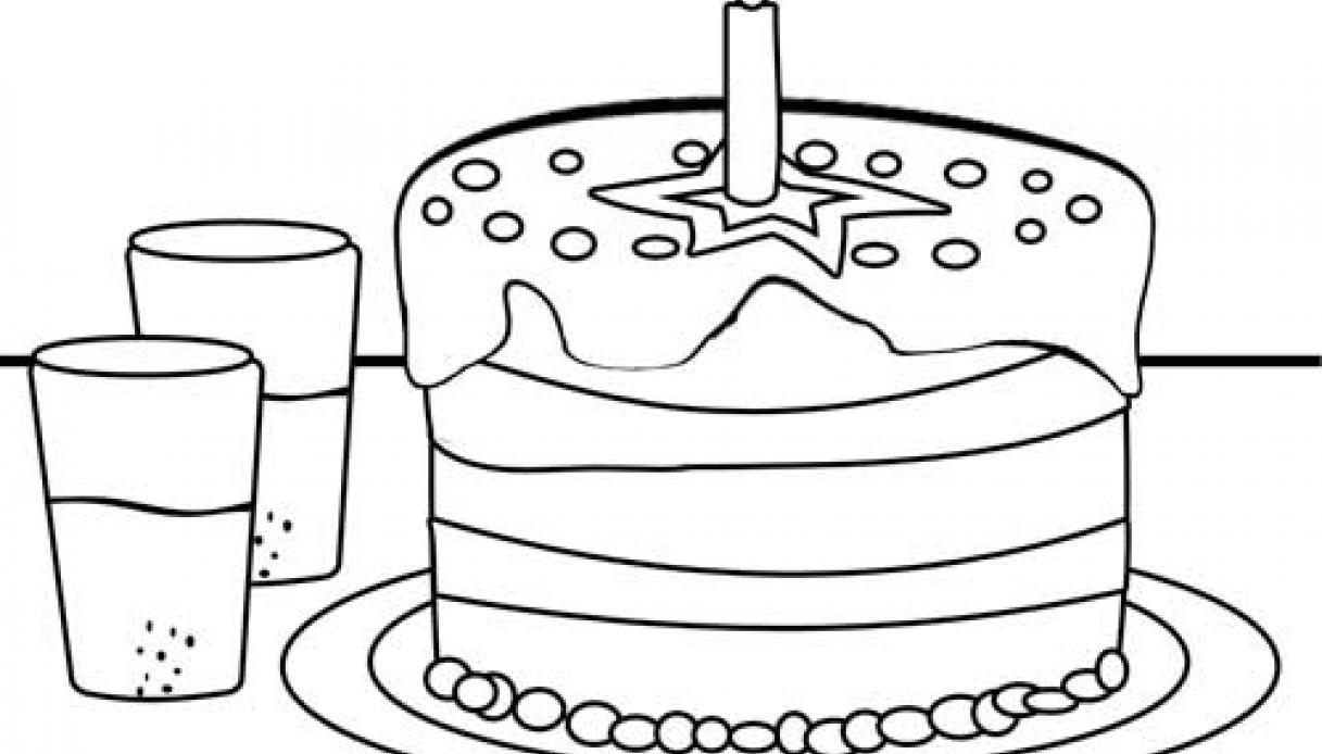 Disegni Da Colorare Per Compleanno Bambina.Disegno Torta Di Compleanno Da Colorare